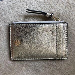 Tory Burch gold card case